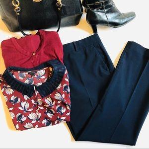 Ann Taylor Navy Devin (Madison) Trouser - size 12R